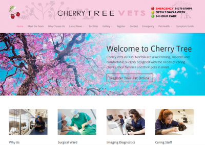 Cherrytree Vets Website