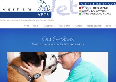 Taverham Vets Website