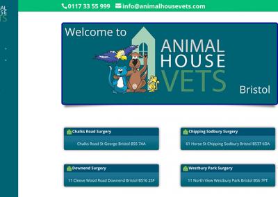 Animal House Vets Website