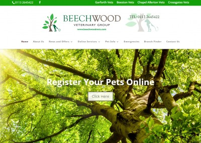Beechwood Veterinary Group website